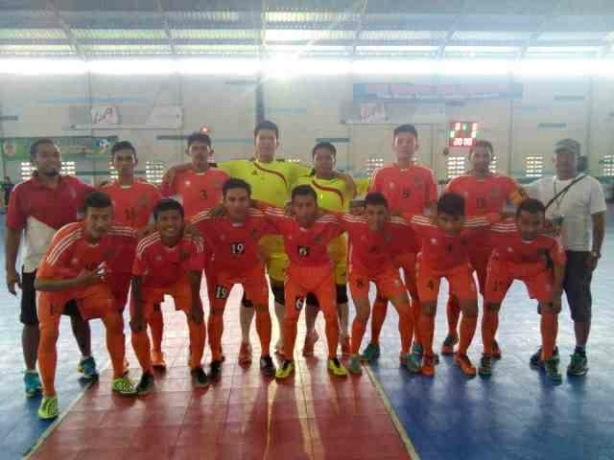 With Tim Futsal Pra PON SUMUT at Borneo Indoor Futsal